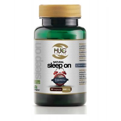 HUG Natural Sleep On,30 kapsula x 440mg - Melatonin, L-Triptofan, B1,B2,B prodaja po povoljnoj cijeni 65.00 kn